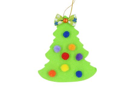 Sapins en caoutchouc mousse - 30 pièces - Suspensions et boules de Noël – 10doigts.fr