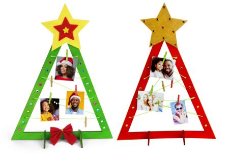 Sapin porte-photo à monter - Kits d'activités Noël – 10doigts.fr