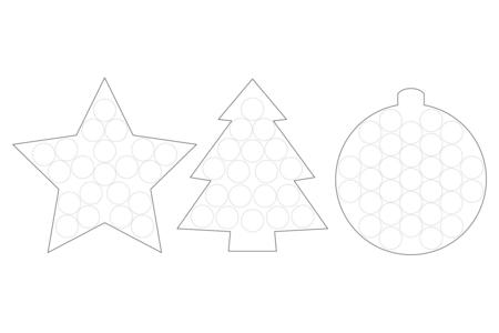 Suspensions de Noël et flocons de Maïs - 12 pièces - Suspensions et boules de Noël – 10doigts.fr