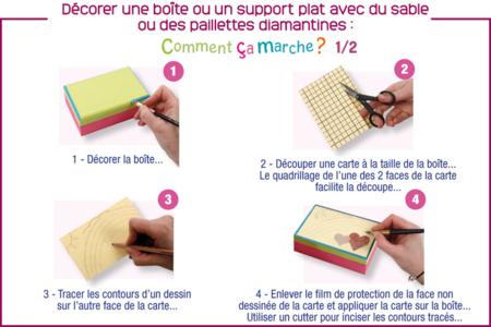 Déorer une boîte en bois avec une carte sable - Boîtes, coffrets, plateaux – 10doigts.fr