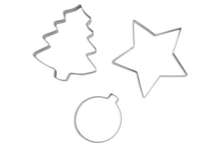 Maxi emporte-pièces en métal : sapin, étoile, boule - Emporte-pièces – 10doigts.fr