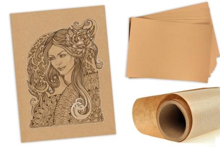 Papier Kraft naturel - Feuilles ou rouleau - Papiers Cadeaux – 10doigts.fr