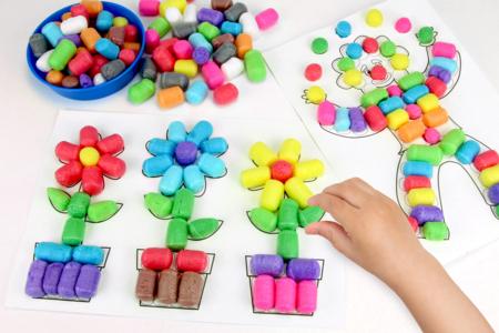 Dessiner en 3D avec les flocons de maïs - Activités enfantines – 10doigts.fr