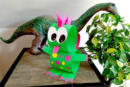 Dinosaure mignon en papier - Activités enfantines – 10doigts.fr