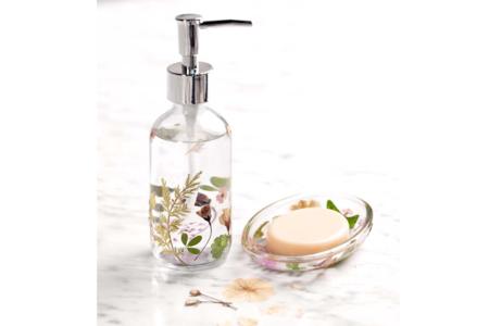 Distributeur de savon fleuri - Déco de la maison - 10doigts.fr
