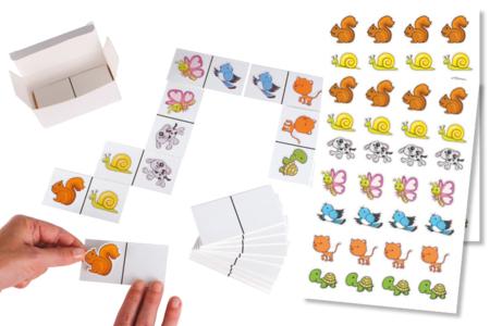 Jeu Dominos à customiser + gommettes - Kits activités jeux à fabriquer – 10doigts.fr