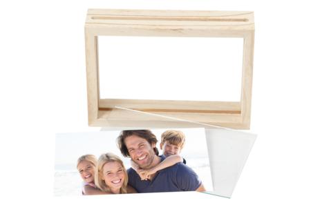 Cadre en bois avec double vitre - Cadres photos en bois – 10doigts.fr