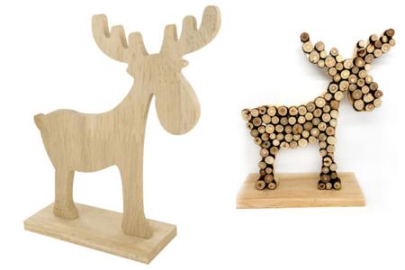Élan en bois naturel - Noël – 10doigts.fr
