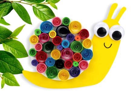 Escargot avec des bandes de papier quilling - Activités enfantines – 10doigts.fr