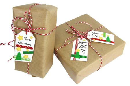 Set de fabrication d'étiquettes - 12 tags + stickers - Marque-place – 10doigts.fr