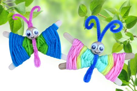 Papillons en laine - Activités enfantines – 10doigts.fr