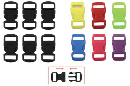 Fermoirs à clip en plastique - Lot de 6 - Fermoirs – 10doigts.fr