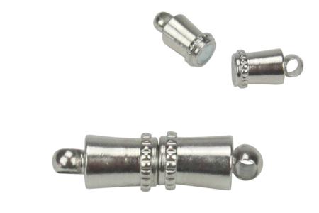 Fermoirs magnétiques tubes argentés - Lot de 8 - Fermoirs – 10doigts.fr