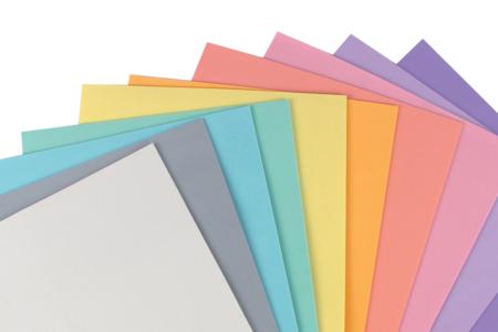 Caoutchouc mousse 20 x 30 cm, 10 feuilles couleurs pastels - Papiers Unis – 10doigts.fr