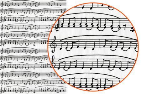 Papier Décopatch Musique - 3 feuilles  N°468 - Papiers Décopatch – 10doigts.fr