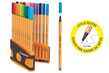 Feutres Stabilo Point 88 + Cahier coloriage OFFERT - Feutres Fins – 10doigts.fr
