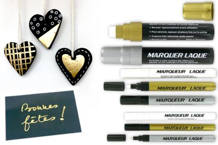 Marqueurs permanents métallisés or, argent ou blanc - Marqueurs peintures – 10doigts.fr