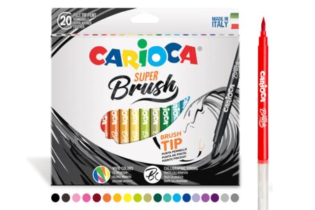 Feutres pinceaux Brush - 20 couleurs - Calligraphie, Ecriture – 10doigts.fr