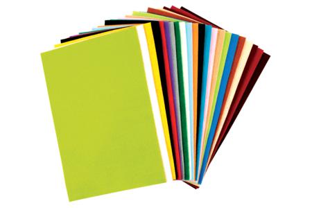 Feutrine 20 x 30 cm - 24 couleurs assorties - Feutrine, feutre, toile de jute – 10doigts.fr