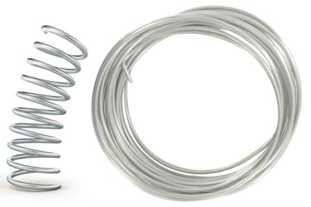Fil à modeler épais en aluminium- Ø 3,2 mm - Fils aluminium – 10doigts.fr