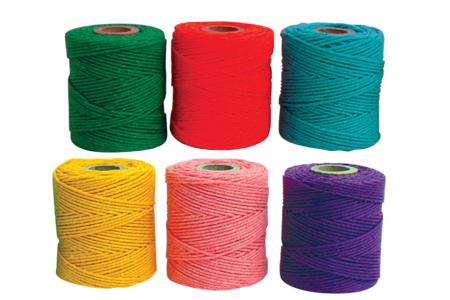 Fils colorés 100% coton - 28 mètres - Fils en coton, échevettes – 10doigts.fr