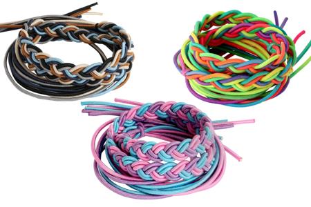 Fils élastiques colorés épais - 1 m - Élastiques – 10doigts.fr
