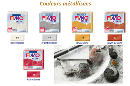 FIMO Effect - Couleurs métalliques - Fimo Effect – 10doigts.fr