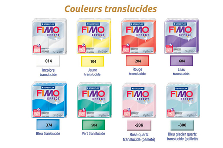 FIMO EFFECT : Couleurs translucides - Fimo Effect – 10doigts.fr