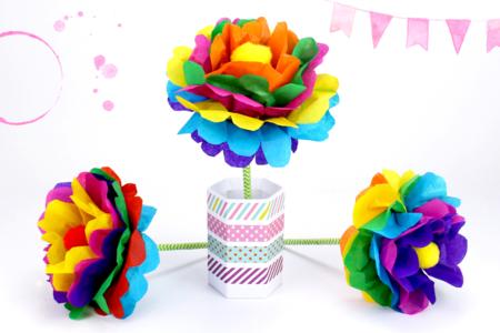 Faire une fleur en papier : méthode facile - Tutos Fête des Mères – 10doigts.fr