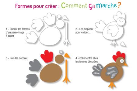 Formes prédécoupées pour créer des animaux ou des personnages - Set de 72 - Supports pré-dessinés – 10doigts.fr