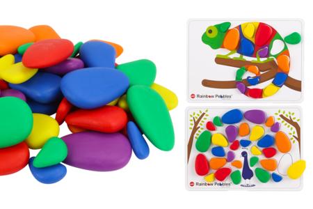 Jeu d'apprentissage avec des galets colorés - Kits activités d'apprentissage – 10doigts.fr