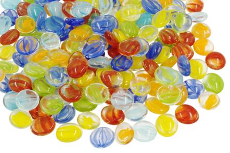 Galets de verre pour mosaïques - 200 pièces - Mosaïques verre – 10doigts.fr