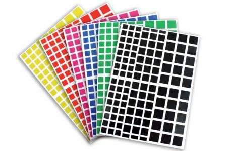 Gommettes carrées - 18 planches - Gommettes Carrées – 10doigts.fr