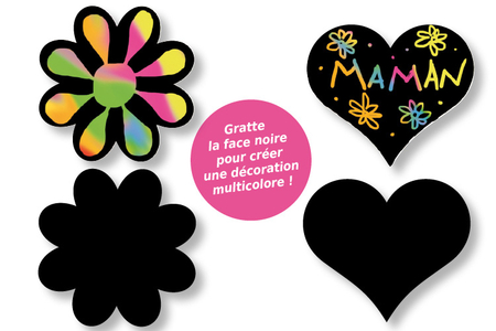 Stickers en carte à gratter thème romantique - 24 pcs - Cartes à gratter – 10doigts.fr