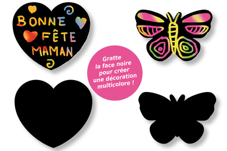 Gommettes-stickers en carte à gratter + 3 grattoirs - Activités enfantines – 10doigts.fr