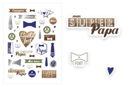 Gommettes Super papa - Gommettes  Fête des parents – 10doigts.fr