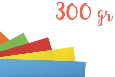 Papiers épais teintés (300 gr) Format A4 - Couleurs au choix - Papiers Format A4 – 10doigts.fr