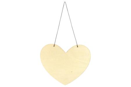 Grand coeur en bois à suspendre - Plaques en bois – 10doigts.fr
