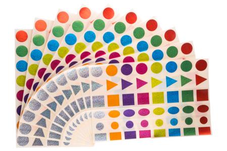 Maxi gommettes géométriques brillantes - 10 planches - Gommettes Géantes – 10doigts.fr