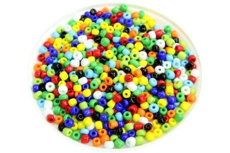 Grosses perles de rocaille opaques - 4000 perles - Perles de rocaille – 10doigts.fr