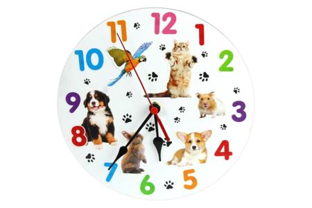 Horloge en carton blanc épais - Objets pour le bureau – 10doigts.fr