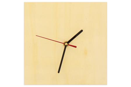 Horloge carrée en bois avec mécanisme à quartz - Fête des Pères – 10doigts.fr