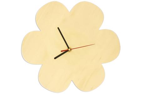 Horloge fleur en bois avec mécanisme à quartz - !! Vieux tutos à supprimer !! – 10doigts.fr
