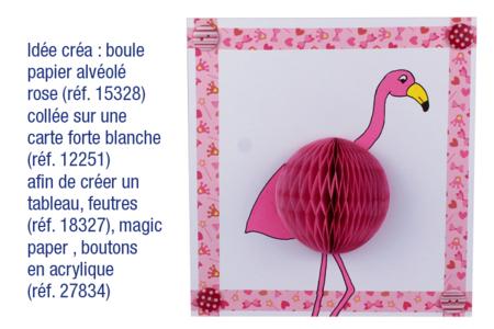Boules de papier alvéolé rose - 4 pièces - Ballons, guirlandes, serpentins – 10doigts.fr