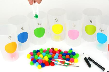 Montessori : Apprendre les couleurs et compter - Tutos Montessori – 10doigts.fr