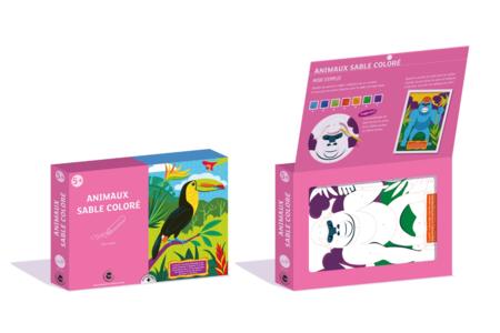 Coffret Animaux - Activité Sables colorés - Coffret Sable coloré – 10doigts.fr