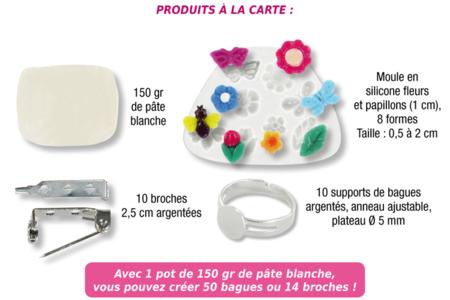 Confection de bijoux avec de la pâte porcelaine blanche - Bijoux – 10doigts.fr