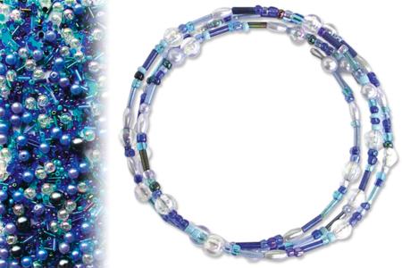 Kit bracelets farandole de perles fantaisie, en camaïeu de bleus - Tutos Fête des Mères – 10doigts.fr