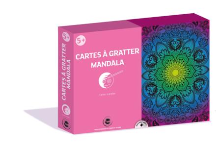 Coffret cartes à gratter - Mandala - Coffret Coloriage et Dessin – 10doigts.fr