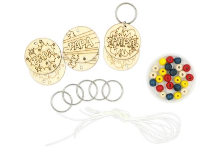 """Kit création de portes-clés papa """"Pop"""" - 6 réalisations - Bijoux, bracelets, colliers – 10doigts.fr"""
